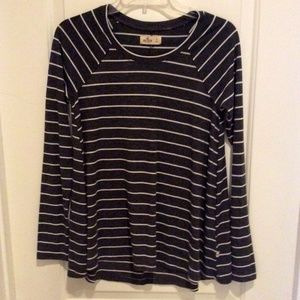Hollister Striped Long Sleeve Shirt Size - Small